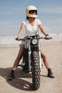 Riding a Motorcycle on Sand