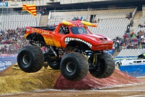 Monster Truck in Mid-Air