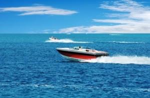 Boat Racing in Blue Water