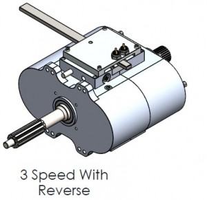 3 Speed with Reverse