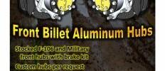 Front Billet Aluminum Hubs