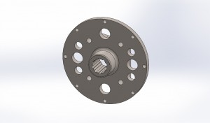 Monster Truck F-106 brake rotor Flange 1