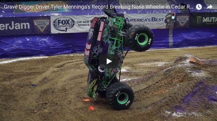 Tyler Menninga in Grave Digger