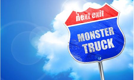 Monster Truck Street Sign