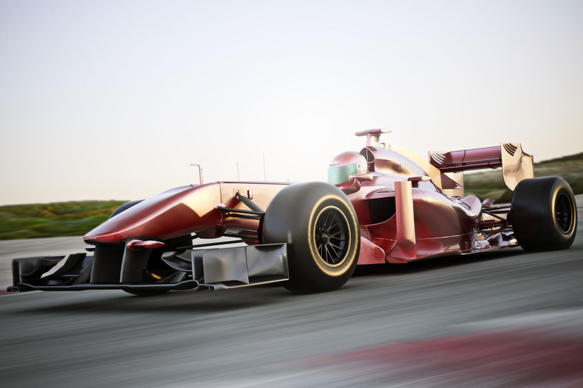 racercar on road